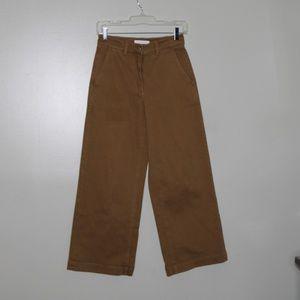 everlane women brown wide leg pant SZ 4